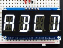 Quad Alpha Display White I2C