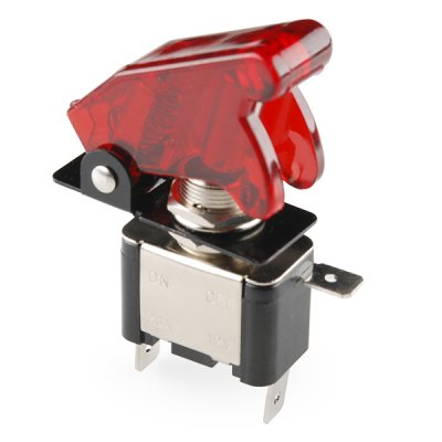 Toggle Switch & Cover (Red)